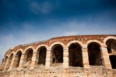 圆形露天剧场竞技场在维罗纳,意大利 免版税库存照片