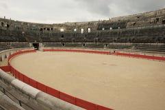 圆形露天剧场罗马的尼姆 库存照片