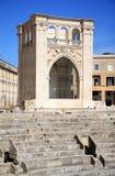 圆形露天剧场街市在莱切,意大利 免版税库存图片