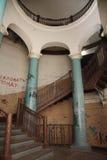 圆形建筑的圣彼德堡 一个历史建筑的建筑学和细节的片段 库存图片