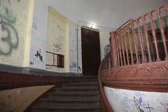 圆形建筑的圣彼德堡 一个历史建筑的建筑学和细节的片段 免版税库存照片