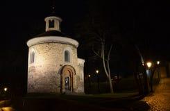 圆形建筑的圣马丁的,布拉格 库存图片
