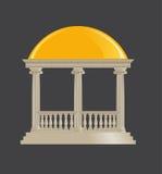 圆形建筑的经典,离子命令 免版税库存图片