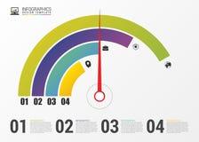 圆形统计图表圆形图 现代Infographics设计模板 向量 免版税库存照片
