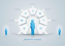 圆形统计图表infographic设计 免版税图库摄影