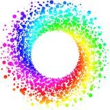 圆彩虹圆的框架边界 皇族释放例证