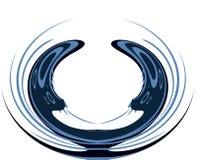 圆抽象商标 免版税图库摄影