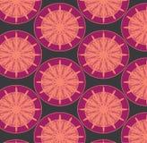 圆抽象雪花样式星爆炸 库存照片