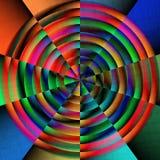 圆明亮的颜色 免版税库存照片