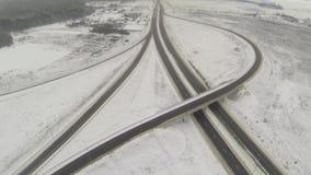 圆机动车路连接点的鸟瞰图 股票录像