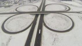 圆机动车路连接点的鸟瞰图 影视素材