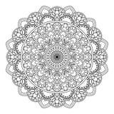 圆样式以坛场的形式无刺指甲花的, Mehndi,纹身花刺,装饰 在种族东方样式的装饰装饰品 库存例证