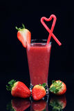 圆滑的人草莓 图库摄影