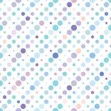 圆点五颜六色的无缝的样式 图库摄影