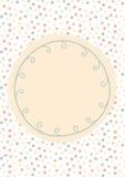 圆点和藤贺卡 免版税图库摄影