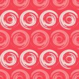圆点无缝的样式 几何的背景 墨水污点 小点、圈子和按钮 向量例证