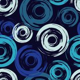 圆点无缝的样式 几何的背景 墨水污点 小点、圈子和按钮 库存例证