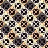 圆点无缝的样式 几何的背景 小点、圈子和按钮 免版税库存图片