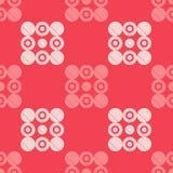 圆点无缝的样式 几何的背景 小点、圈子和按钮 库存照片