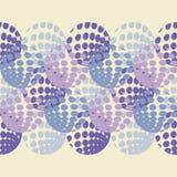 圆点无缝的样式 几何的背景 计算机图画 小点、圈子和按钮 皇族释放例证