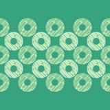 圆点无缝的样式 动态形状构成 几何的背景 小点、圈子和按钮 免版税库存照片