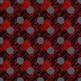 圆点无缝的样式 动态形状构成 几何的背景 小点、圈子和按钮 图库摄影