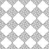 圆点无缝的样式 菱形纹理  手工孵化 几何的背景 杂文纹理 图库摄影