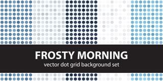 圆点样式集合冷淡的早晨 传染媒介无缝几何 库存例证