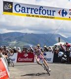 圆点泽西骑自行车者皮埃尔罗兰特 免版税库存照片