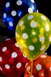 圆点花样的布料气球 库存图片