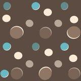 圆点花样的布料背景 免版税库存照片