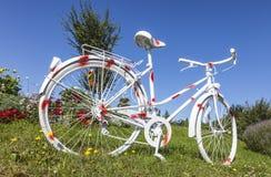 圆点葡萄酒自行车 免版税库存照片