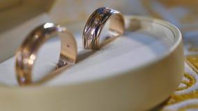 圆环在案件的婚戒 股票录像