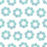 圆环蓝色圈子  免版税库存照片