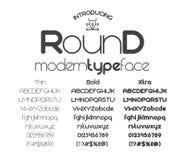 圆现代minimalistic Sans Serif的字体 向量例证