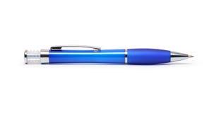 圆珠笔蓝色笔 免版税库存图片