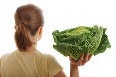 圆白菜健康藏品开胃菜妇女 图库摄影