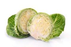 圆白菜对分二 库存图片