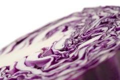 圆白菜接近的极其紫色 库存照片