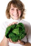 圆白菜新鲜的开胃菜妇女 库存照片