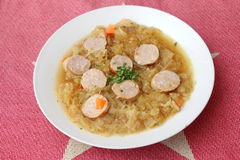 圆白菜汤  免版税图库摄影