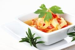 圆白菜炖煮的食物蔬菜 库存图片