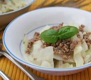 圆白菜炖煮的食物 免版税图库摄影