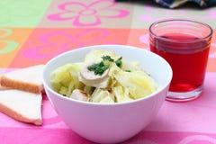 圆白菜炖煮的食物 库存照片