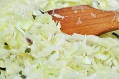 圆白菜烹调 库存照片