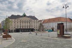 圆白菜集市广场早晨,布尔诺,捷克 免版税库存照片