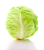 圆白菜顶头图象查出的白色 免版税库存照片