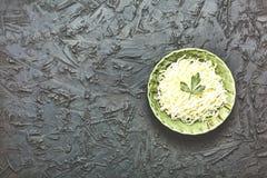 圆白菜,素食膳食,健康食物,沙拉,被切的,石选项 免版税图库摄影