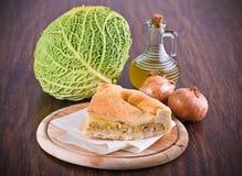 圆白菜calzone开胃菜 库存照片