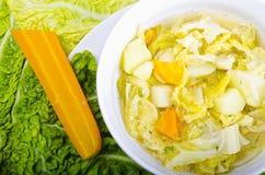 圆白菜parzybroda开胃菜汤 库存图片